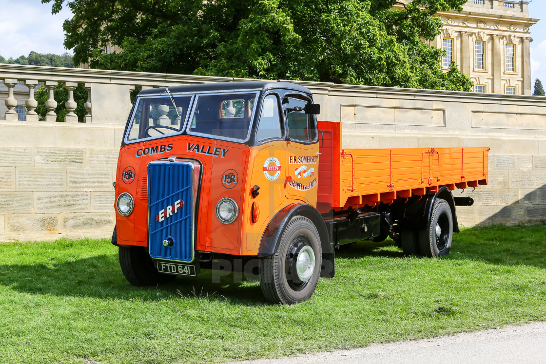 """An ERF C 15 dropside lorry, truck or commercial vehicle, built i"" stock image"