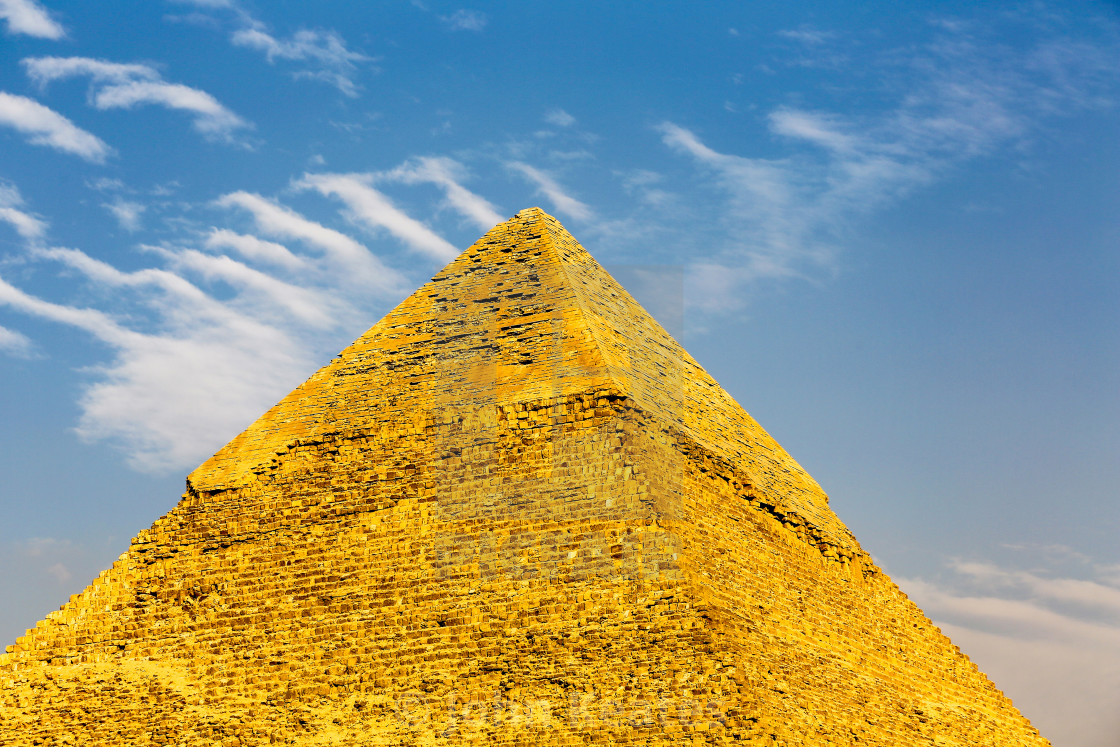 """The Great Pyramid of Giza, Pyramids, Giza, Egypt, North Africa"" stock image"