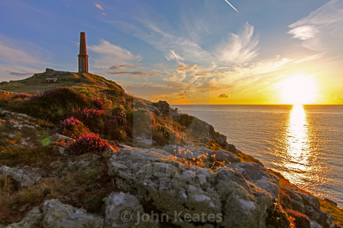 """Cape Cornwall, Cornwall, South West England"" stock image"