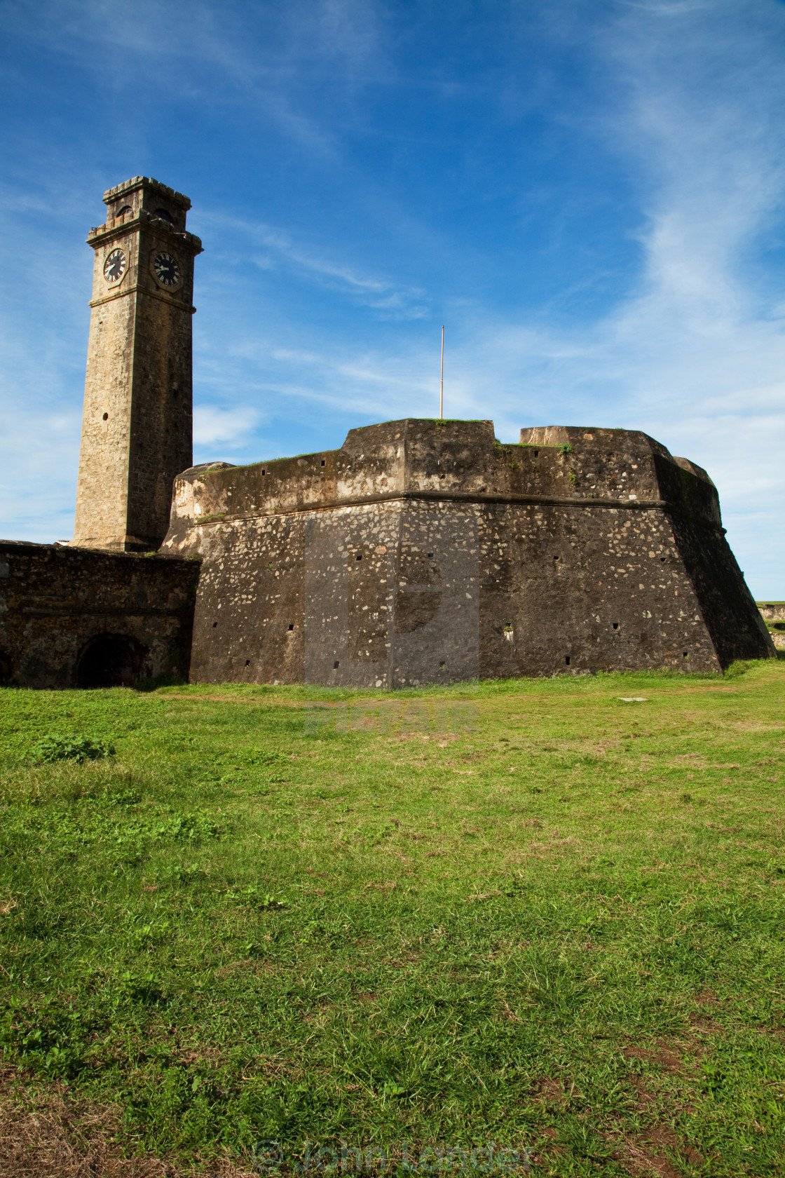 """Galle Fort Ramparts"" stock image"