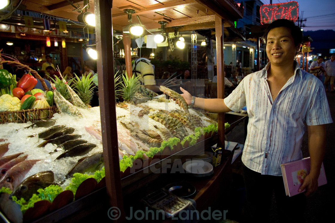 """Hua Hin Night Market"" stock image"