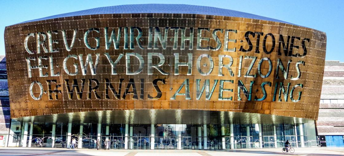 """""""Wales Millennium Centre"""" stock image"""