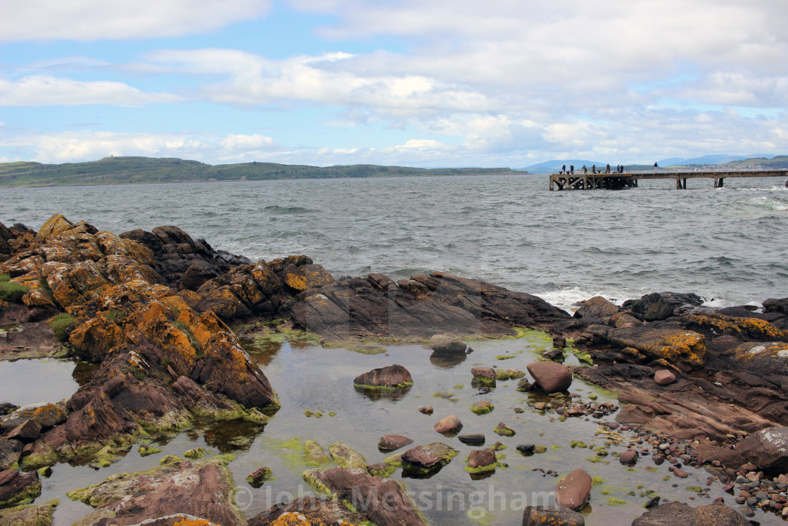"""Firth of Clyde from Portencross"" stock image"