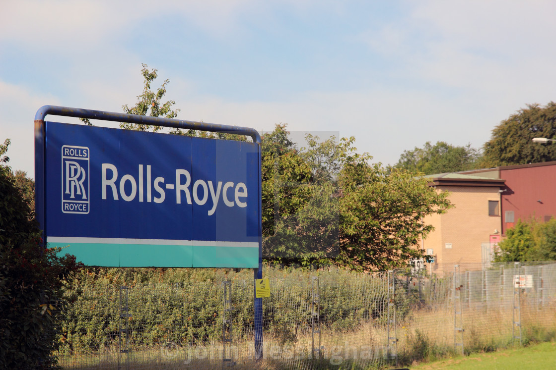 """Rolls Royce Plant in East Kilbride"" stock image"