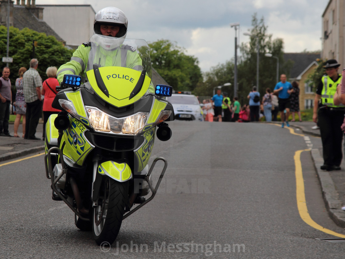 """""""Motorcycle Police Officer"""" stock image"""
