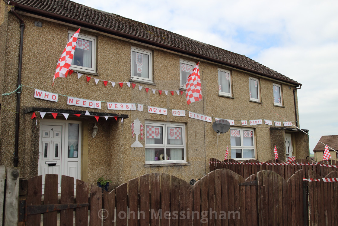 """Decorated houses in New Cumnock"" stock image"