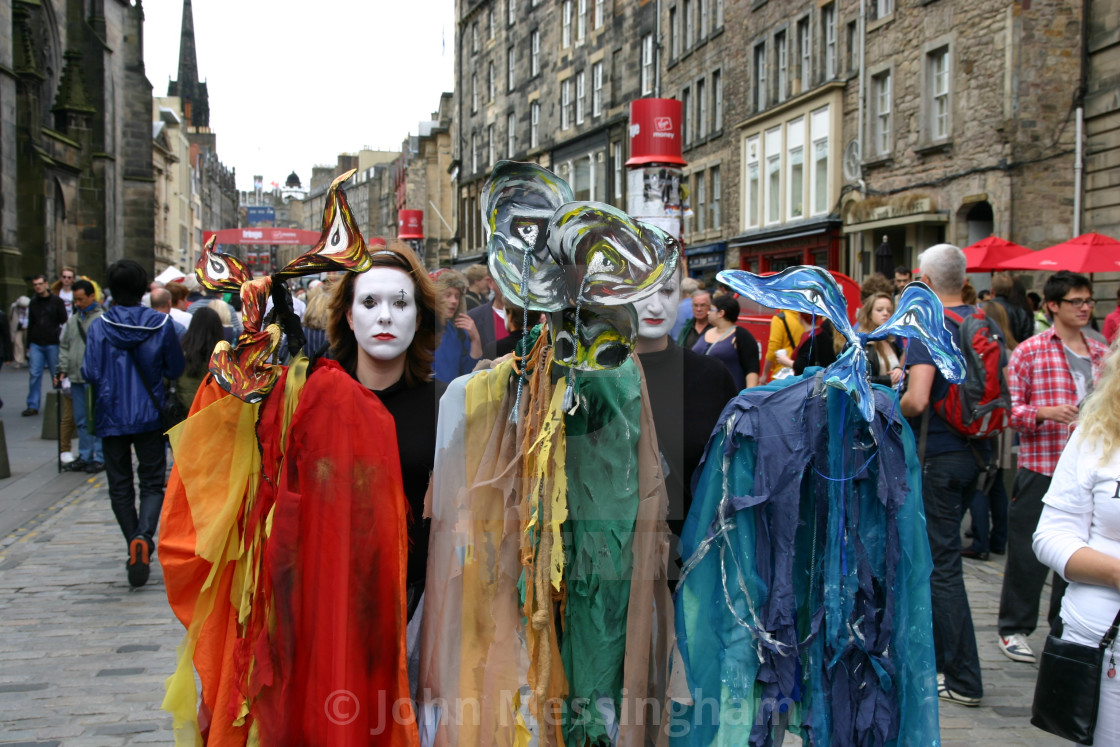 """Street Entertainers Edinburgh Festival"" stock image"