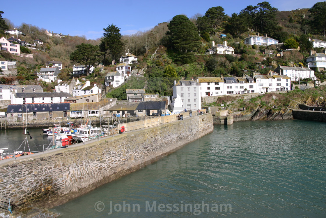 """Polperro in Cornwall, United Kingdom"" stock image"