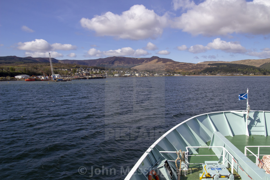 """""""Approaching Brodick on the Isle of Arran"""" stock image"""