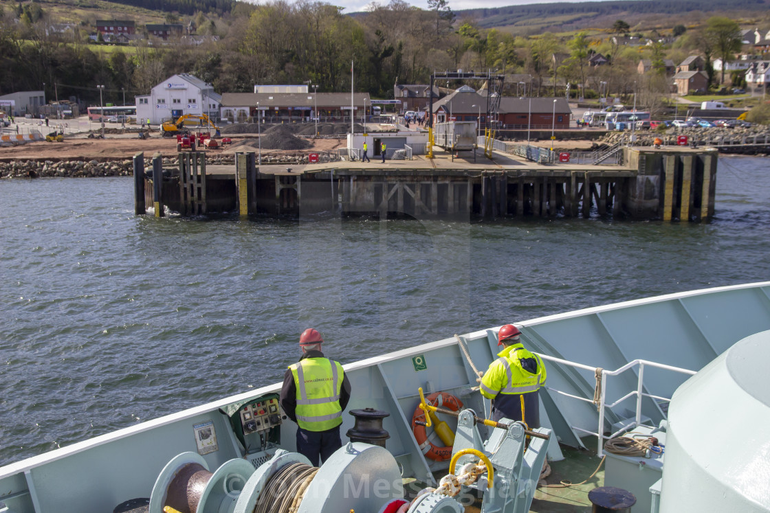 """""""Arriving in Brodick"""" stock image"""