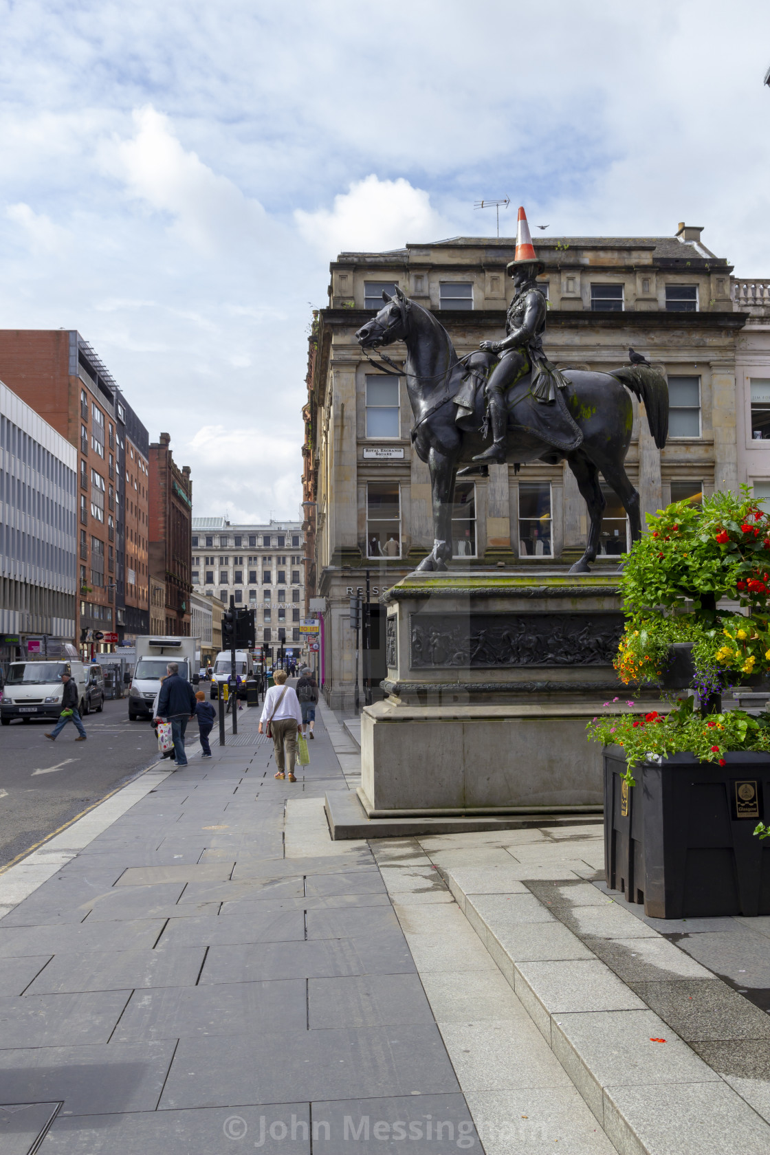 """Duke of Wellington statue in Glasgow"" stock image"