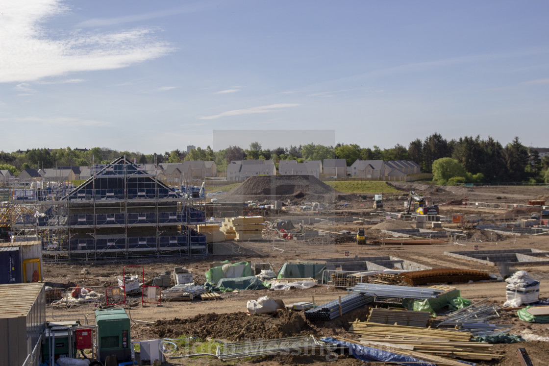 """""""House building on the old Rolls-Royce site in East Kilbride"""" stock image"""