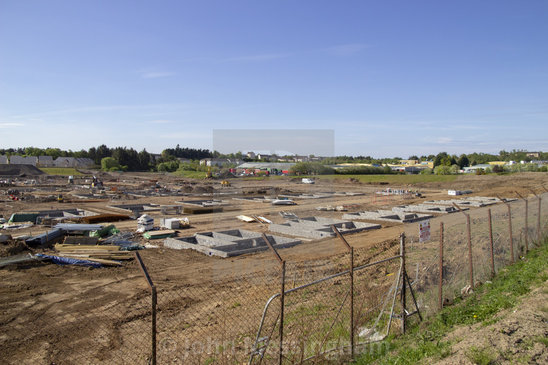 """House building on the old Rolls-Royce site in East Kilbride"" stock image"