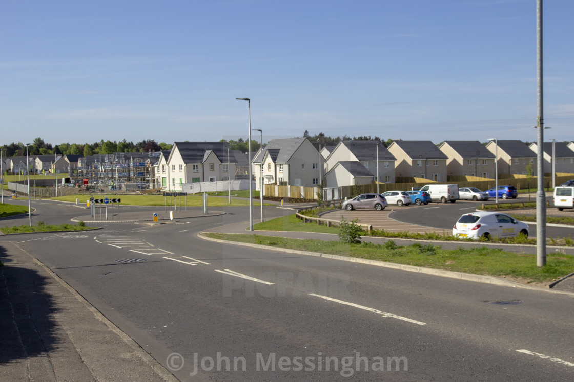 """New houses on the old Rolls-Royce site"" stock image"