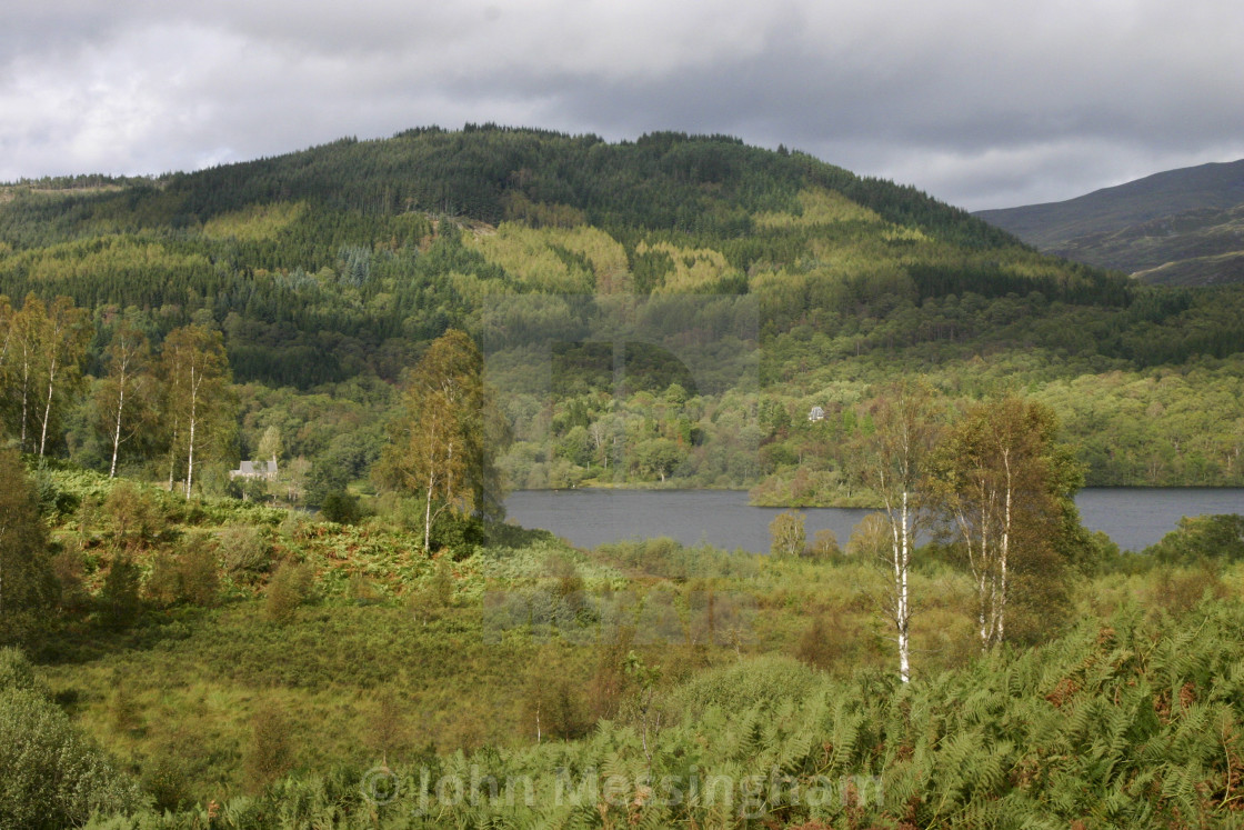 """Loch Achray in Scotland"" stock image"