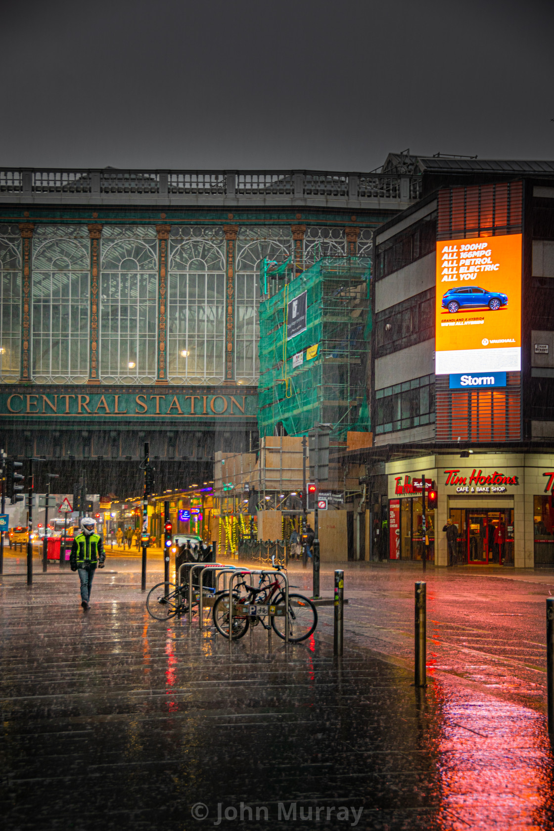 """Rainy Glasgow"" stock image"