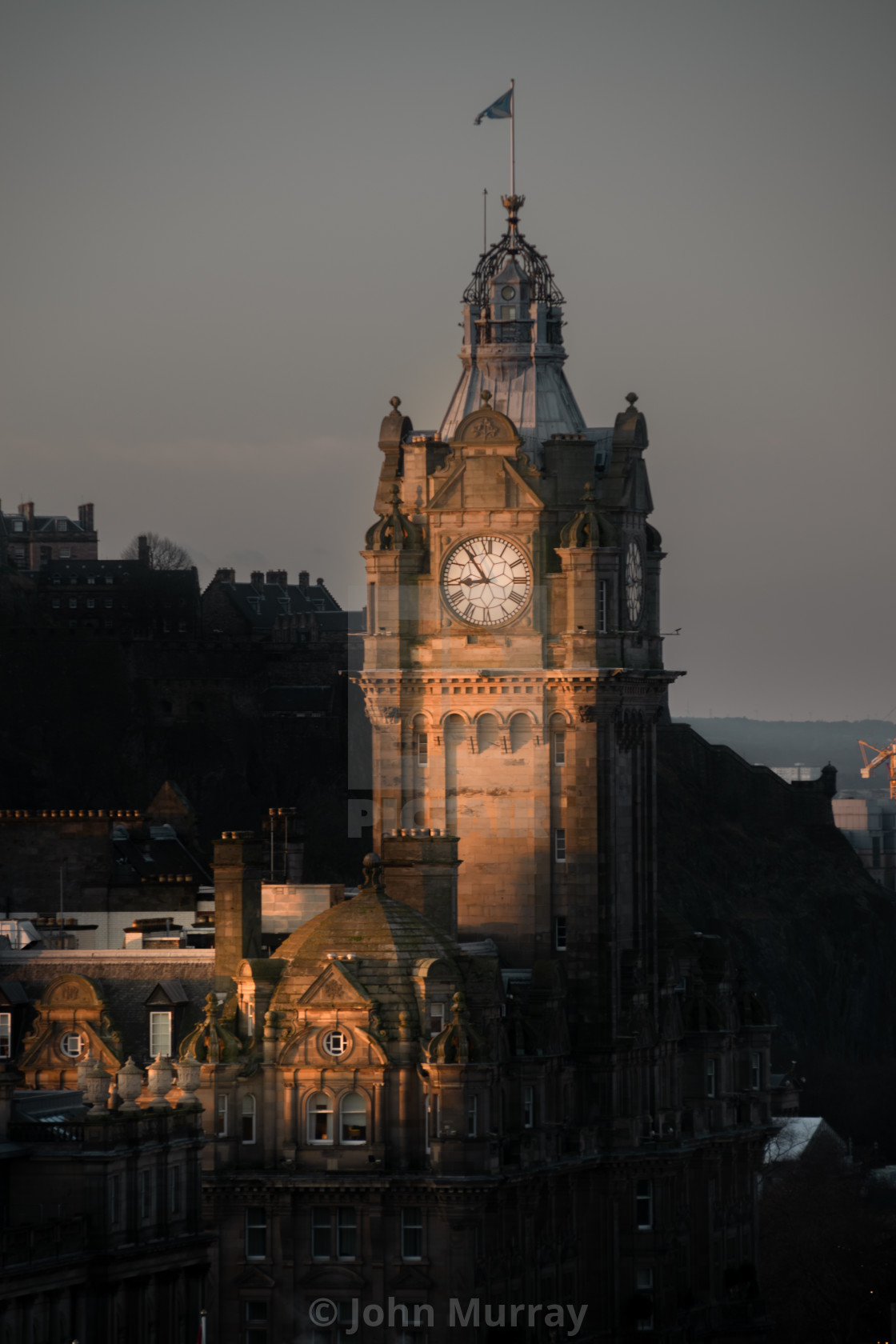 """Morning Sun Hits Edinburgh"" stock image"