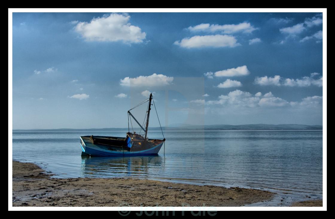 """""""Trawler in Morecambe Bay"""" stock image"""