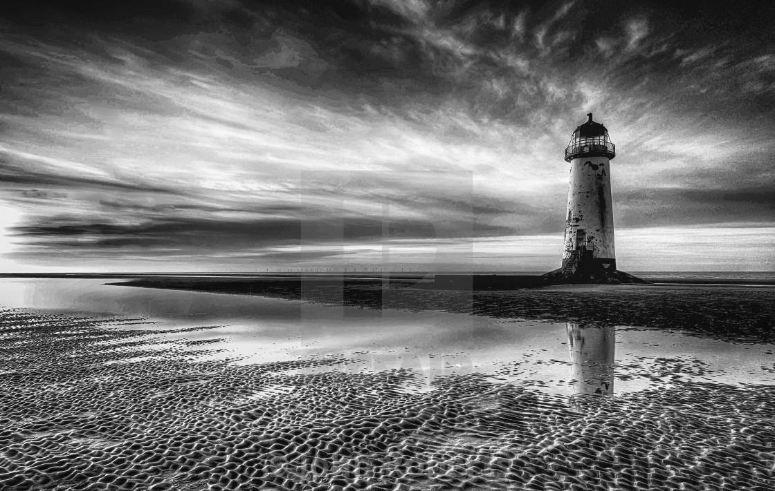 """Lighthouse on the Sands"" stock image"