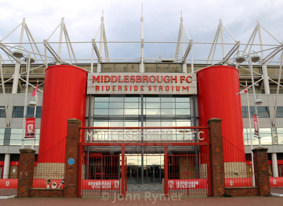 """Middlesbrough Football Club, Riverside Stadium."" stock image"