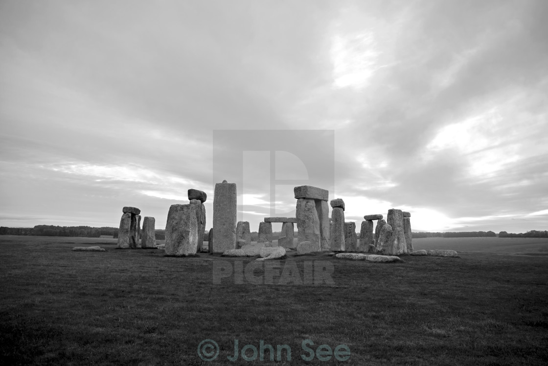"""Stonehenge at Dawn"" stock image"