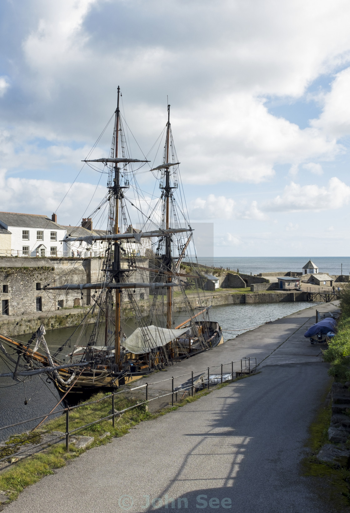 """Charlestown Harbour"" stock image"