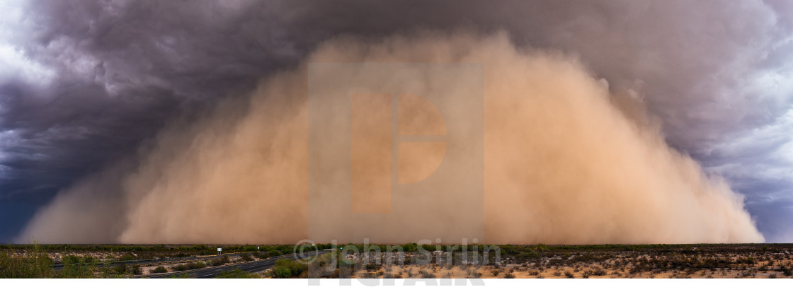 """Dust storm panorama"" stock image"