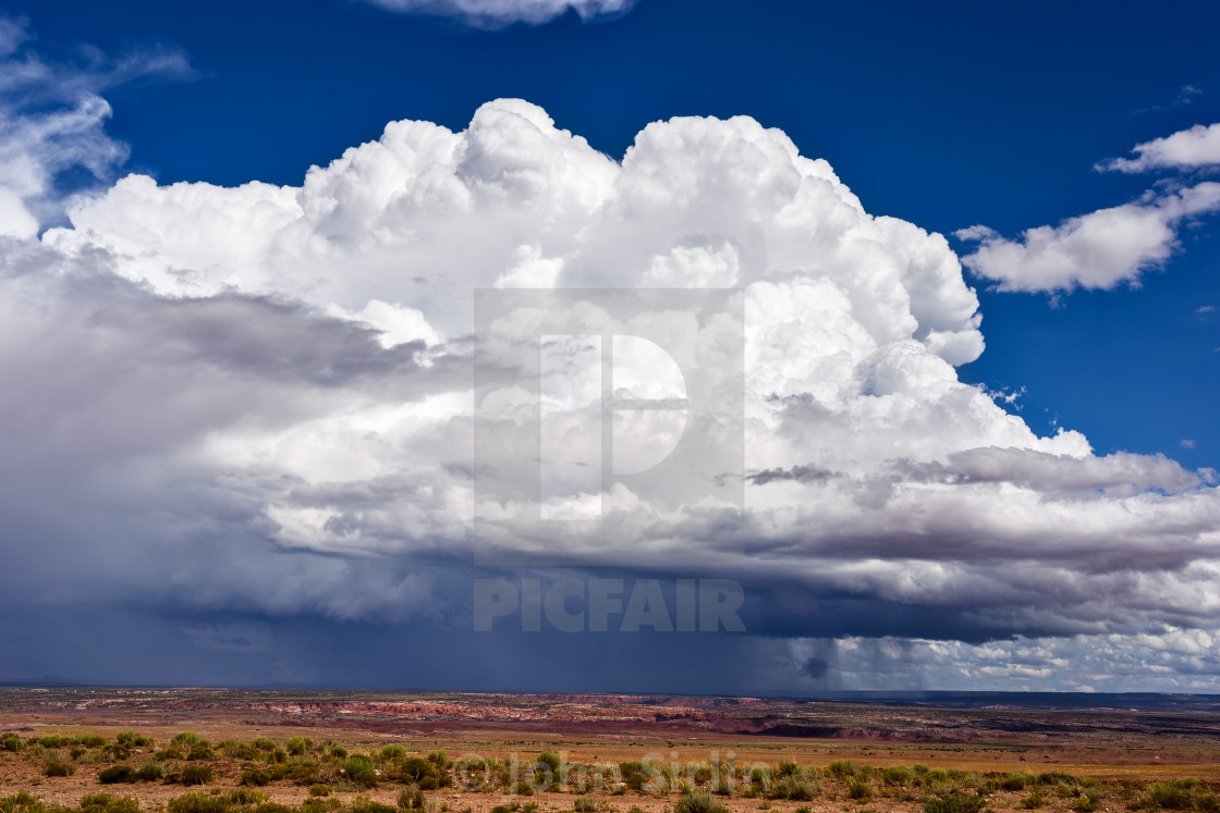 """Cumulonimbus thunderstorm cloud"" stock image"
