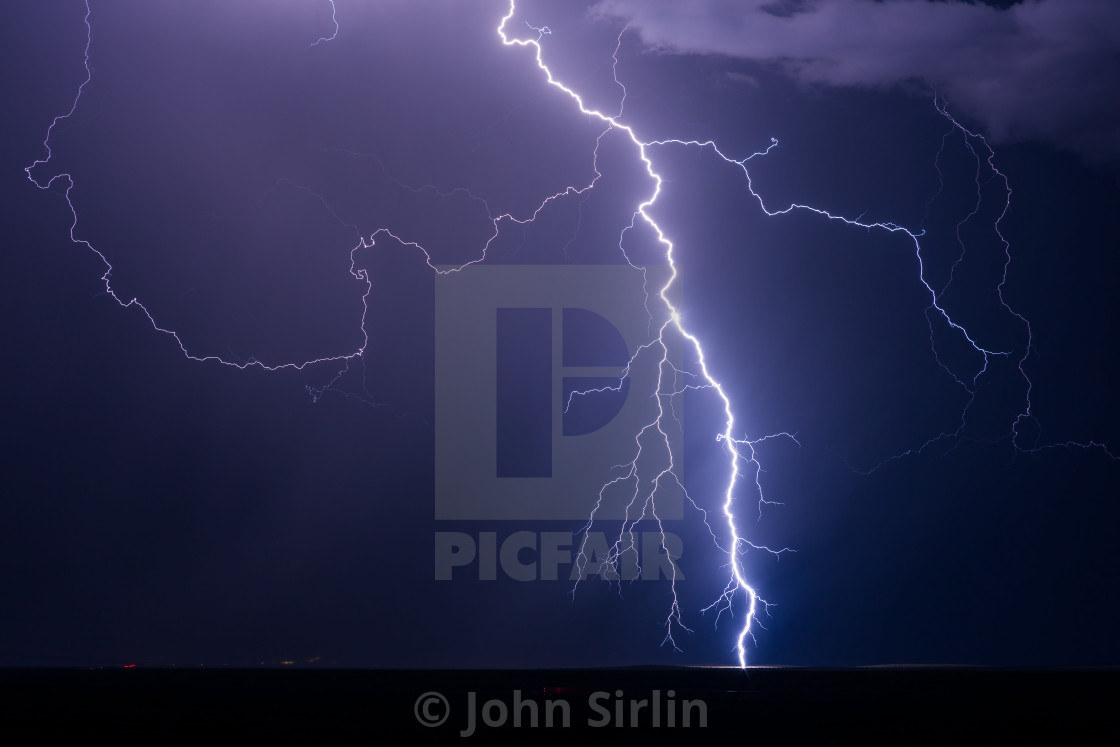 """Lightning storm"" stock image"