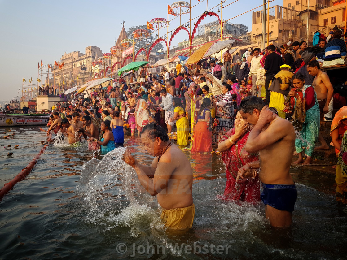 """Sunrise, Varanasi"" stock image"