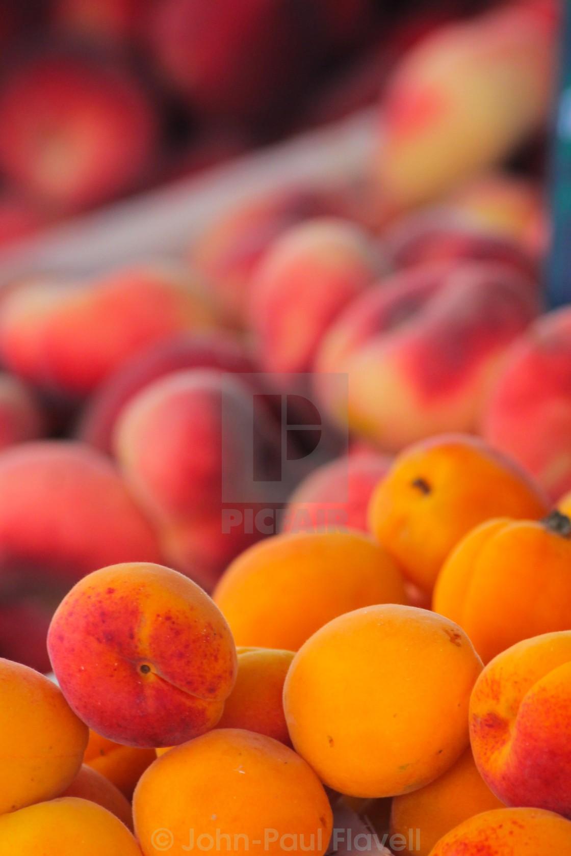 """Peaches and Nectarines"" stock image"