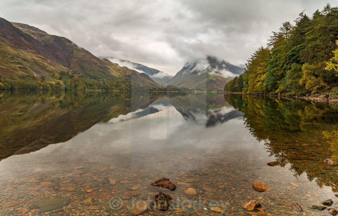 """""""Moody Lake Buttermere"""" stock image"""
