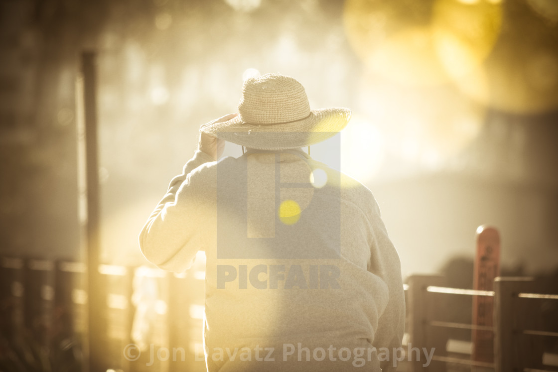 """Man with Hat"" stock image"