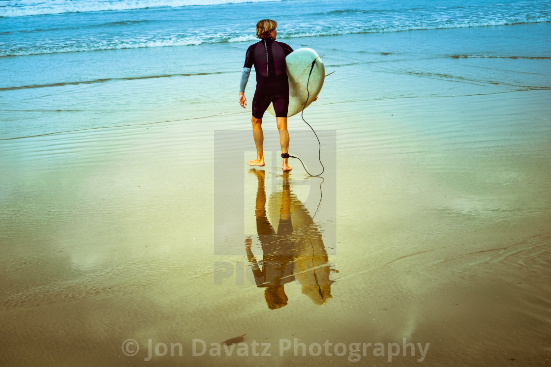 """""""Surfers Reflection"""" stock image"""