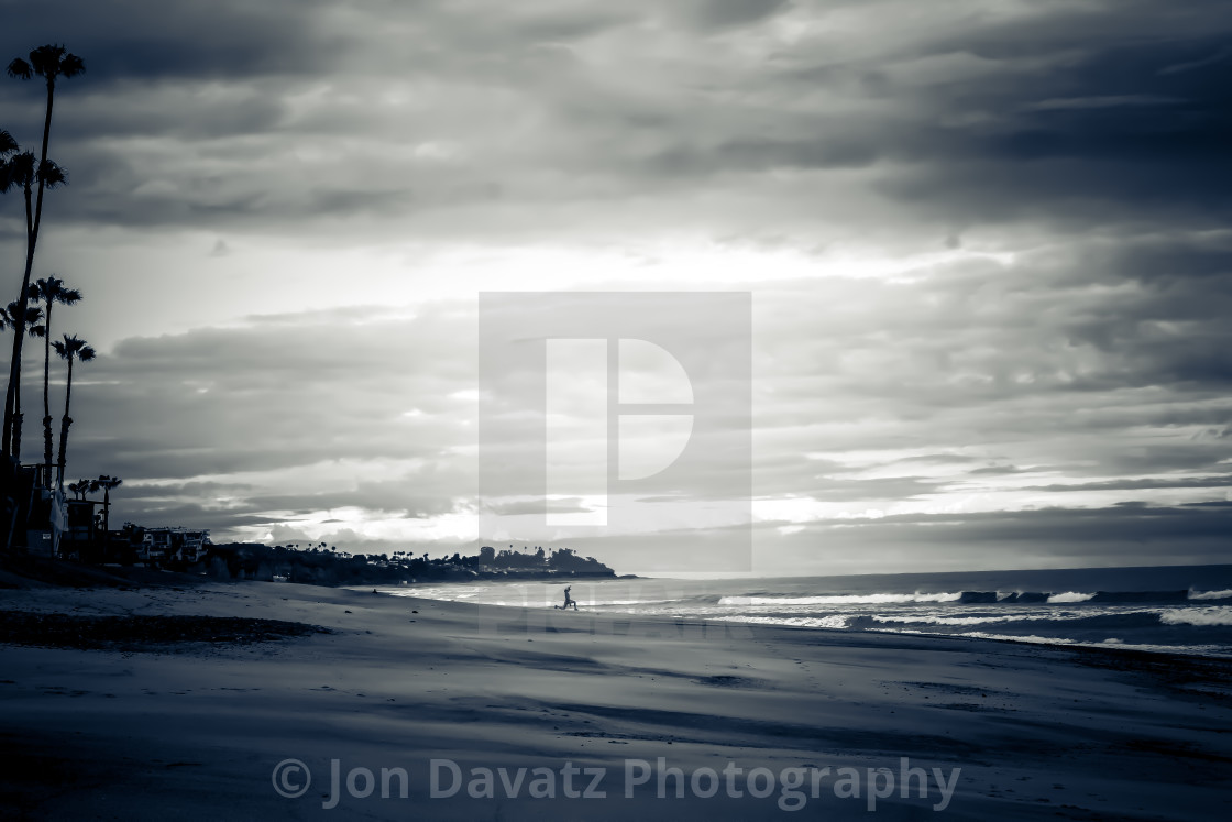 """""""Beach in Black and White"""" stock image"""