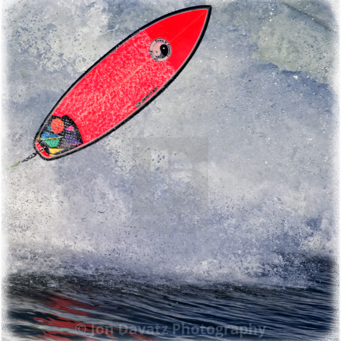 """""""Red Surfboard"""" stock image"""