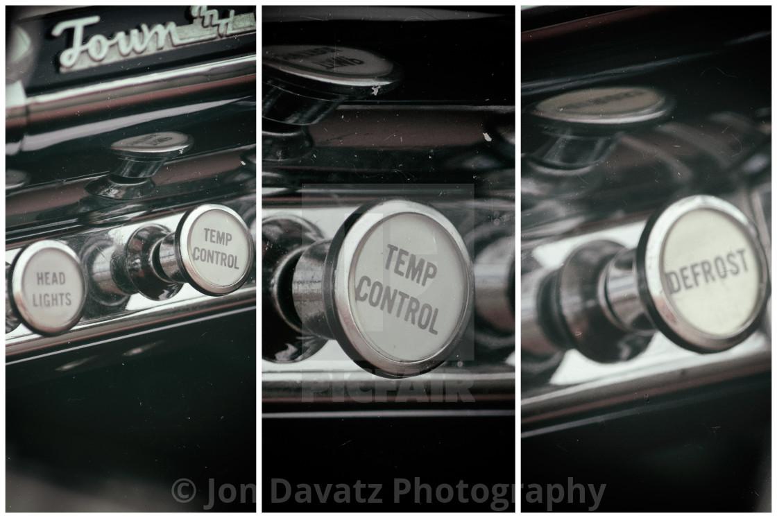 """Vintage Car Knobs"" stock image"