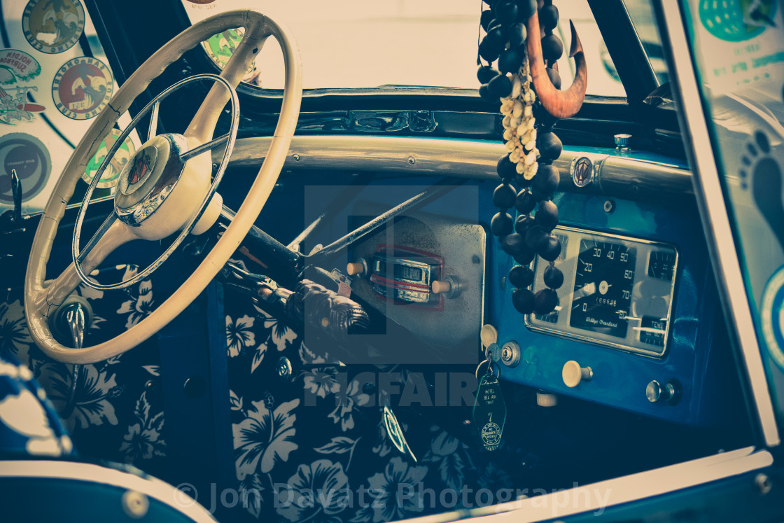 """""""1947 Willy's Jeep Interior"""" stock image"""