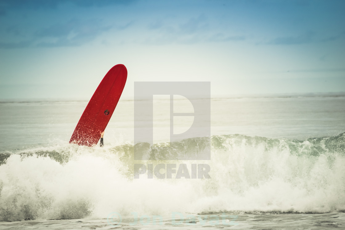 """Red Surfboard"" stock image"