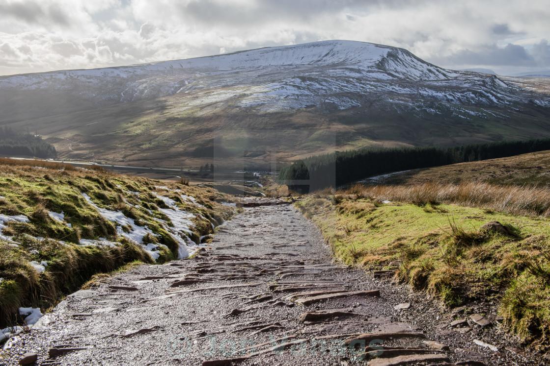 """Pont Ar Daf, Pen Y Fan, Brecon Beacons, Wales"" stock image"
