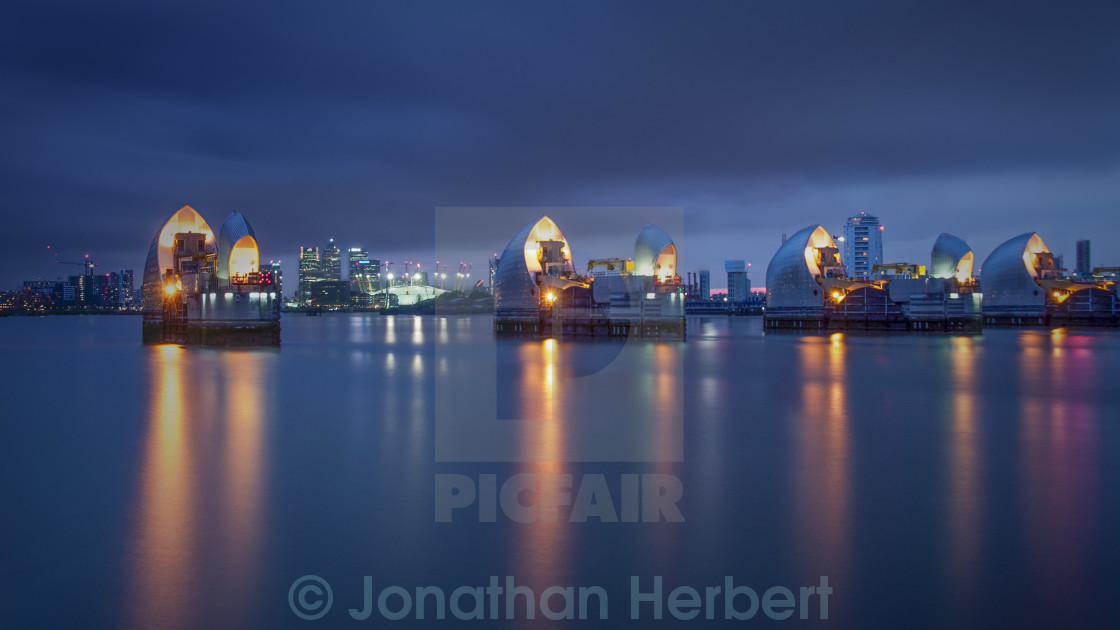 """Thames Barrier"" stock image"