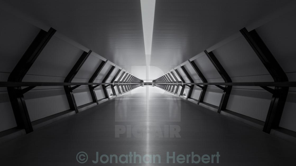 """""""Long Walkway"""" stock image"""