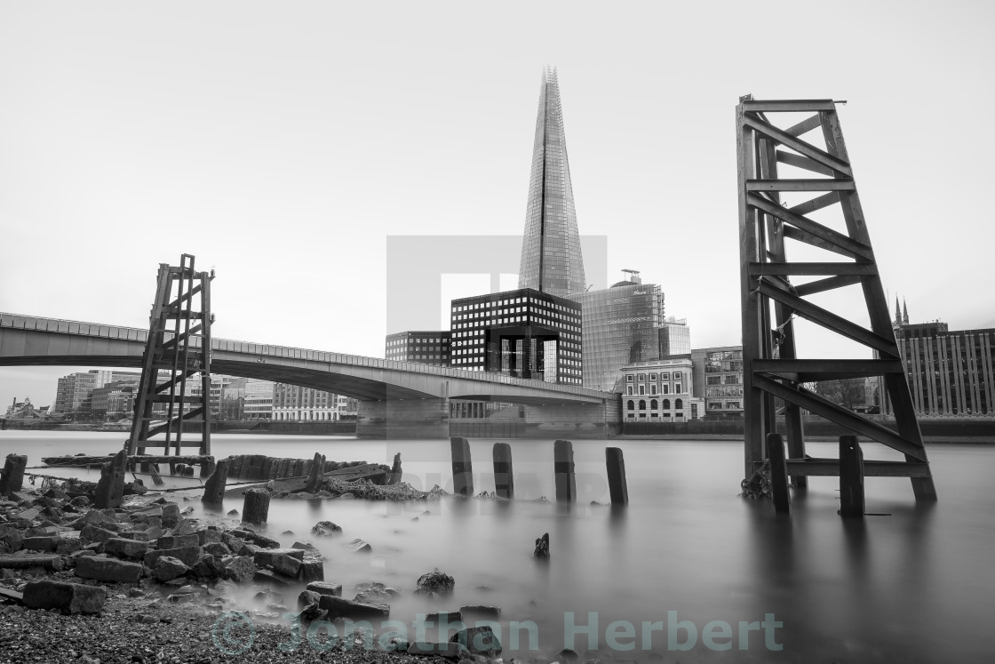 """The River Thames And The Shard"" stock image"