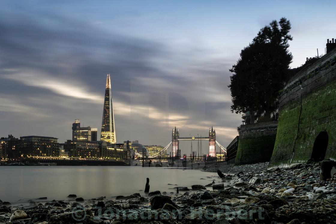 """London Low TIde"" stock image"