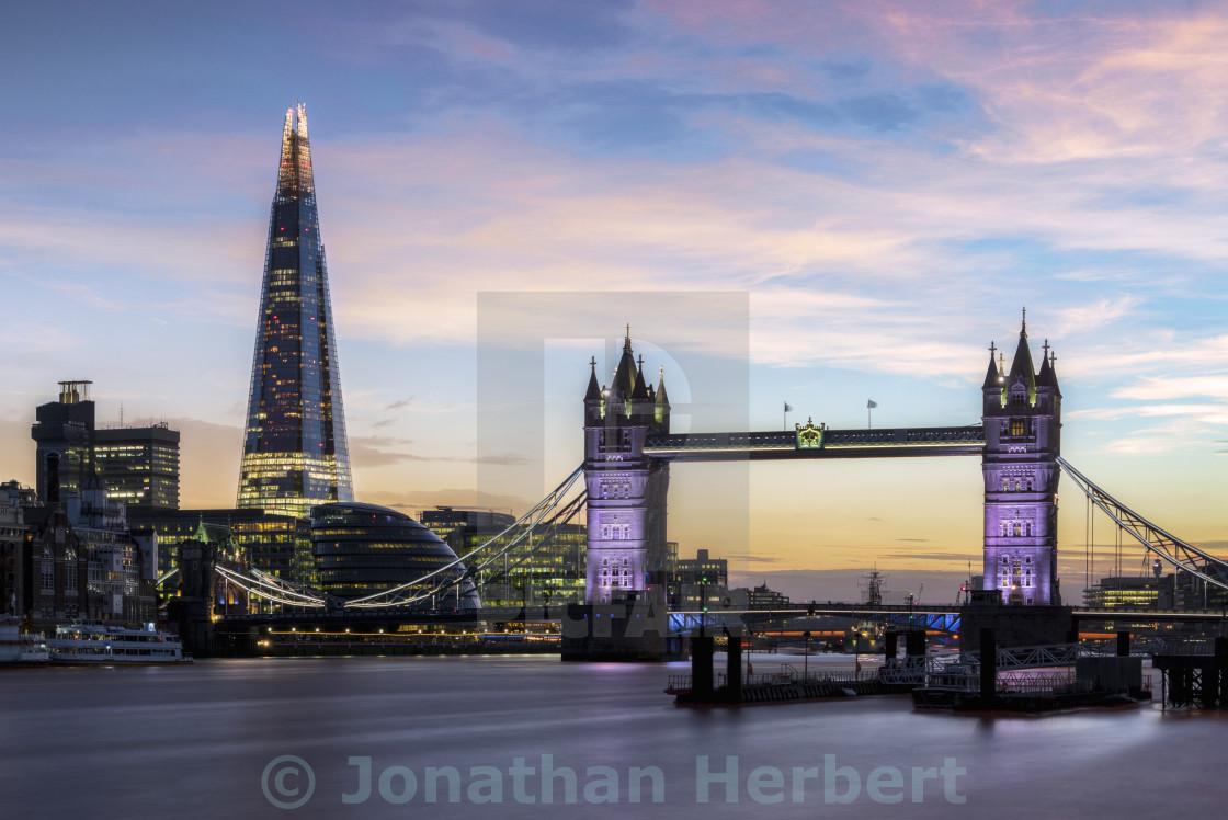 """The Shard And Tower Bridge"" stock image"