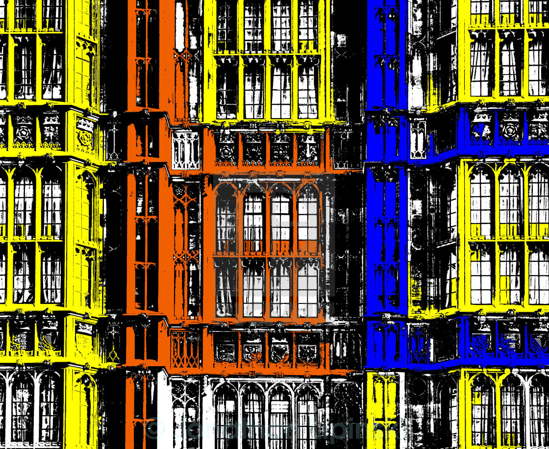 """""""A crazy picture of the houses of parliament london"""" stock image"""
