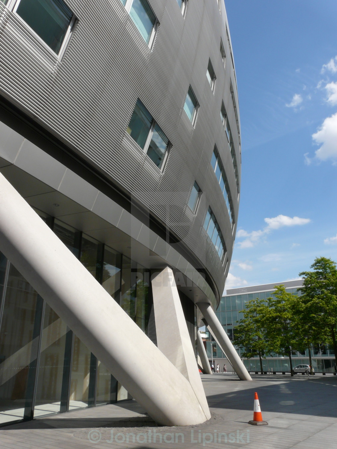 """An office building on London's South Bank"" stock image"