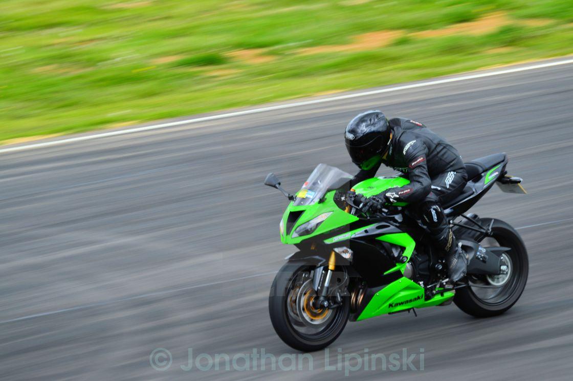 """A Racing Motorcycle"" stock image"