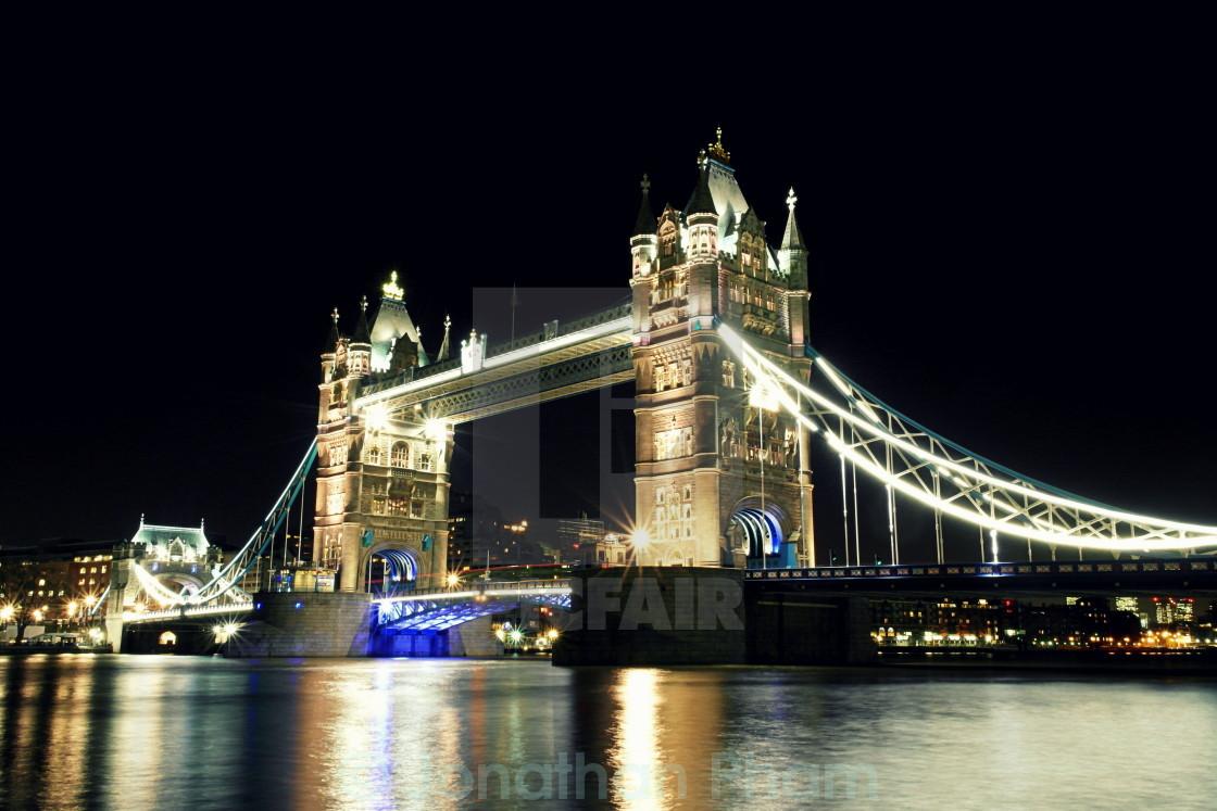 """Tower Bridge close up"" stock image"