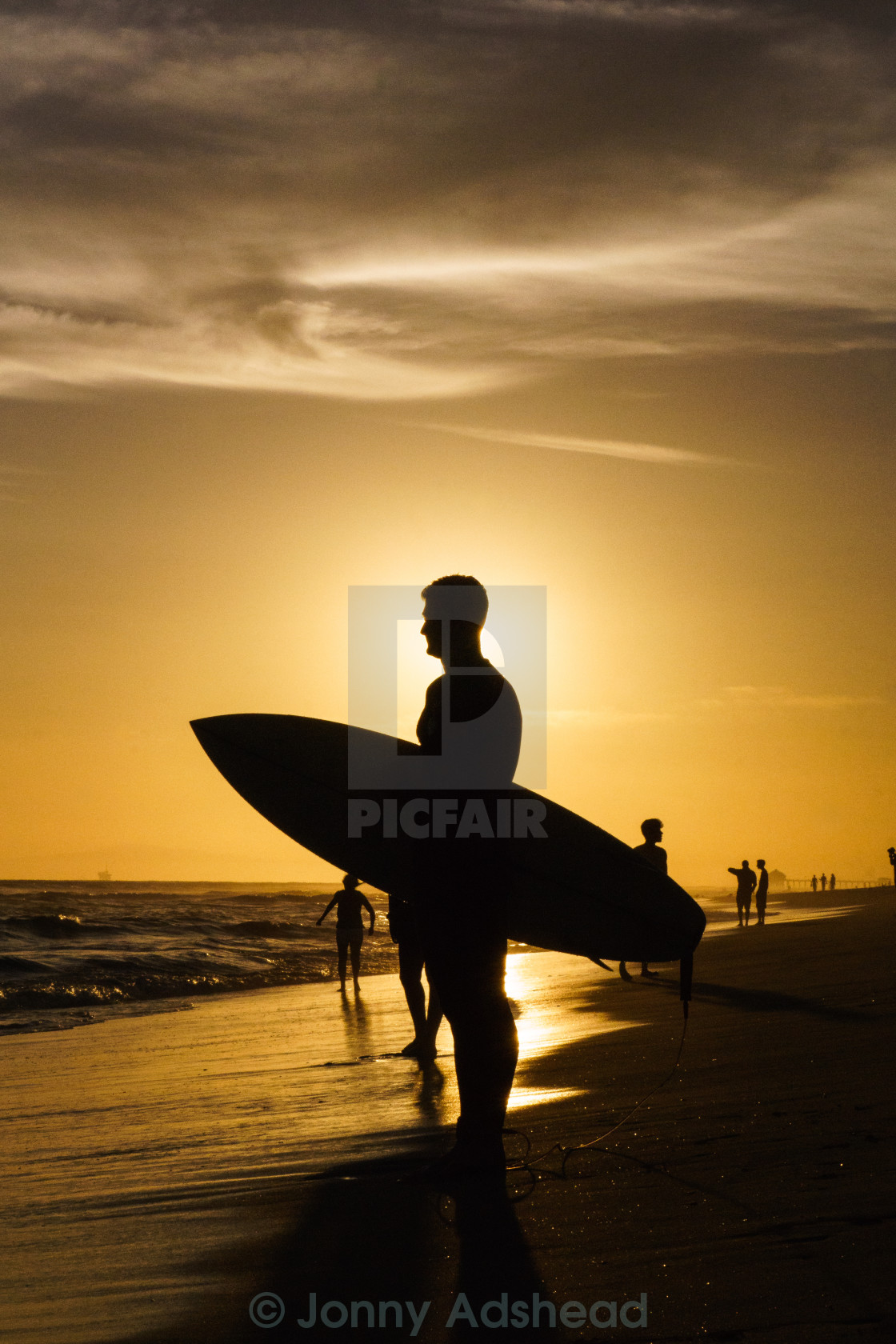 """Golden Surfer"" stock image"